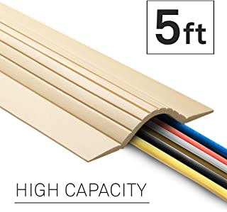 UT Wire 5-Feet Cable Blanket High Capacity Low Profile Cord Cover and Protector, Beige