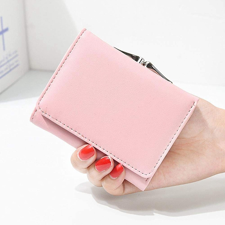 Girls Purse Women's Wallet,Ladies Wallet Short Mini Student Purse Wallet PU Leather (color   B)