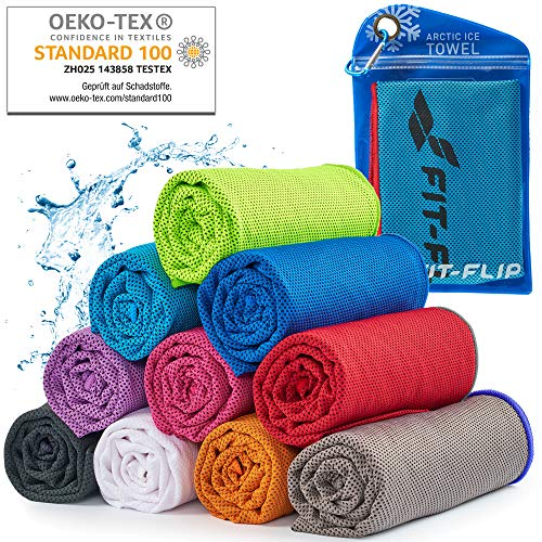 Cooling towel for sport & fitness 120x35cm – microfibre cooling towel as an ice cooling...