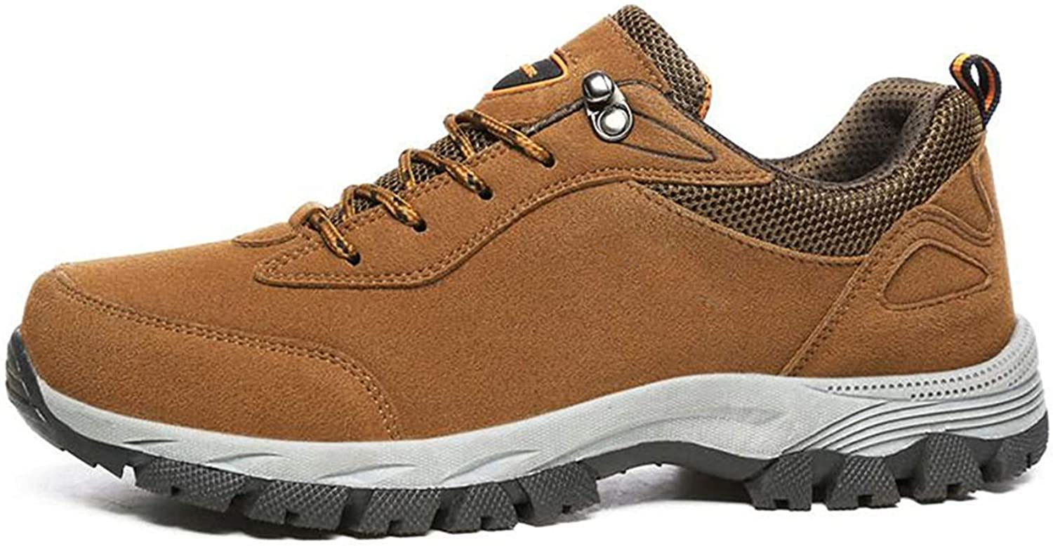 Dsx Hiking shoes Men's shoes Comfortable Waterproof Outdoor Hiking shoes with shoes, brown, 7UK