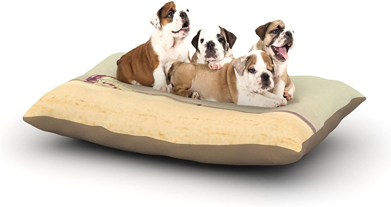 Kess InHouse Myan Soffia ToffeeMarshmallow  Sandy Beach Dog Bed, 30 by 40Inch