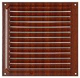 Brinox B70580Z Rejilla de ventilación, Madera Oscura, 20 x 20 cm