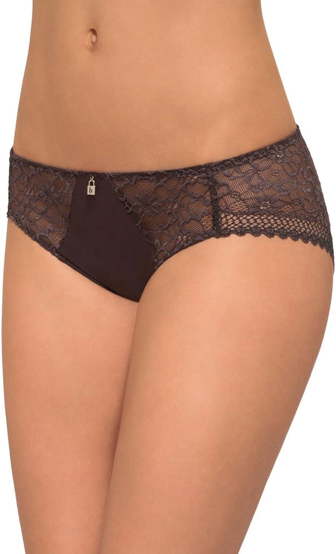 Barbara Acacia Licorice Brown Lace Bikini Brief 205618RE281