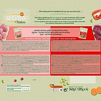 Ultima Nature Nourriture Humide pour Chat au Boeuf et Dinde: 52 sachets de 85g - Total: 4,4 kg