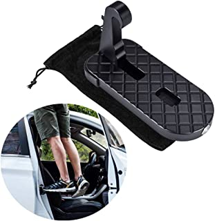 Car Doorstep,CTA Vehicle Rooftop Doorstep Folding Ladder with Saftey Emergency Hammer,Access to Roof-Rack for Truck Car SUV Jeep(Up To 550LBS)
