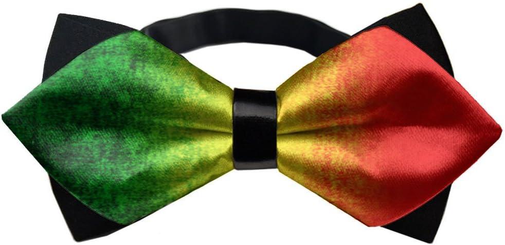 YEAHSPACE Men's Adjustable Feature Rasta Neck Bowtie Bow Tie Gift