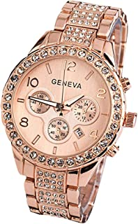 Geneva Women Fashion Luxury Crystal Wrist Watch,Outsta Unisex Stylish Quartz Watch