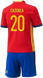 Adidas Cazorla #20 Spain Home Mini Kit UEFA Euro 2016
