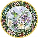 Cruz para adultos Kits de punto puesta Aves y flores de colores,lienzo preimpreso 11CT Bordado de kit de punto de cruz de arte DIY,regalo principiantes para la decoración del hogar,40x50cm