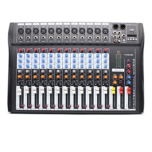 Eapmic 12 Channel Sound Board Mixer Studio Mixing Console, 48V Live Studio Audio Mixer Sound Board Mixing Console System USB Sound Mixer CT120S-USB. Buy it now for 137.89