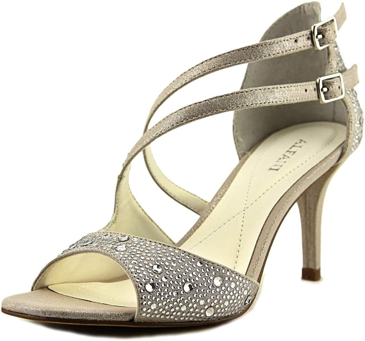 A35 Cremena Sparkle Strappy Dress Sandals, Silver, 7.5 US