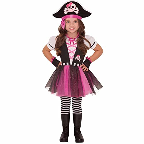 97f2e9cf42c Dazzling Pirate And Hat Girls Fancy Dress Caribbean Buccaneer Kids Childs  Costume