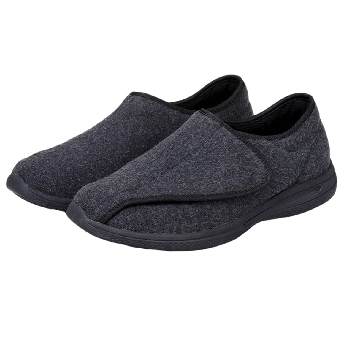 Unisex Diabetic Shoes, Extra Wide & Roomy Swollen Foot Shoes, Soft Adjustable Slippers for Sensitive Skin & Edema Feet Relief