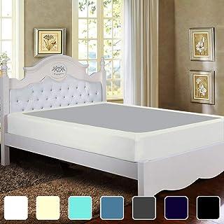 Twin Six Premium Bed Box Spring Cover, King/California King/Split King Size, Update Bed Skirt, Mattress Protector Encaseme...