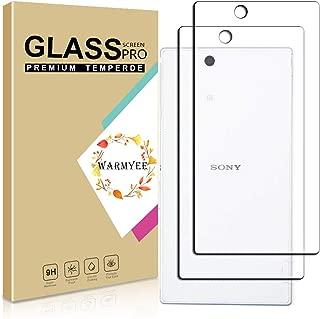 【二枚入り】Sony Xperia XL39H Z Ultra 【背面】ガラスフィルム Warmyee フィルム 強化ガラス 液晶保護フィルム[ 旭硝子製 ] [ 落としても割れない ] [ 最高硬度9H ]