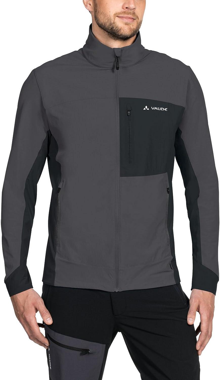 (Large, Iron)  Vaude Badile Men's Soft Shell Jacket Jacket, Men, Men's Badile Softshell Jacket