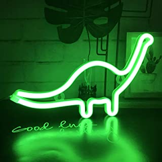 Neonlicht, LED Dinosaurier Nachtlicht Wanddekoration für Weihnachten, Geburtstagsfeier, Kinderzimmer, Wohnzimmer, Hochzei...