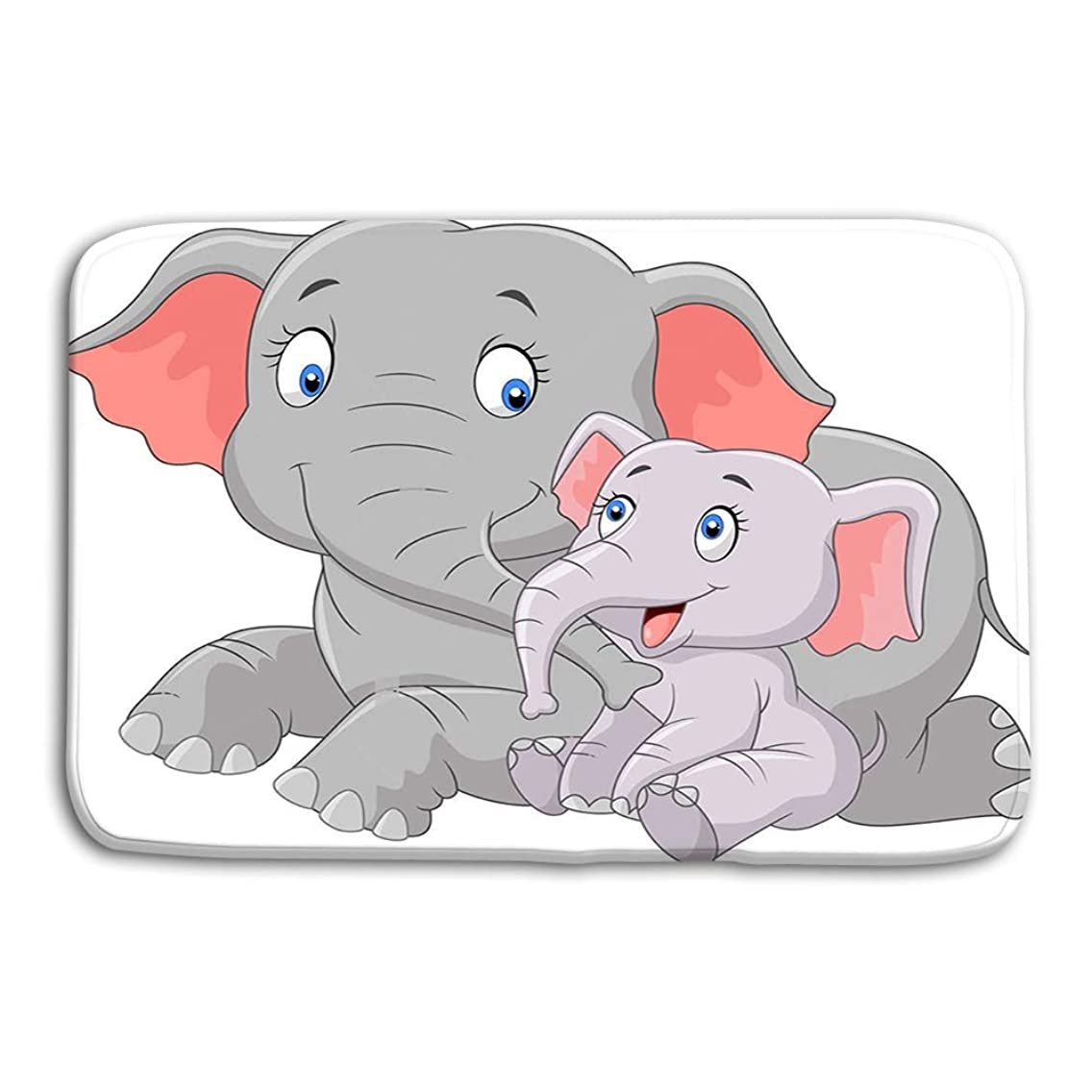 zexuandiy Place Mats Washable Fabric Placemats for Dining Room Kitchen Table Decor 23.6x15.7 Cartoon Cute Mother Baby Elephant White Background