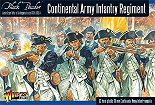 Black Powder Revolutionary War Continental Army Infantry Regiment 1:56 Military Wargaming Plastic Model Kit