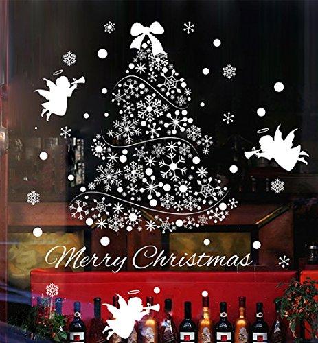 Natale Vetrofanie Display Rimovibile Adesivi Murali Fai da te Finestra Decorazione Vetrina Wallpaper...