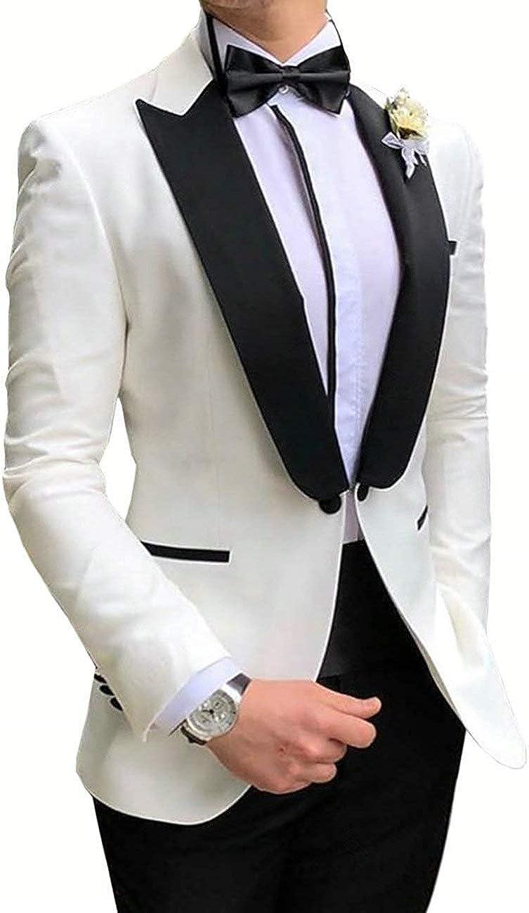 RONGKIM Men's 2 Pieces Men Suits Fashion Sli Blazer Manufacturer OFFicial shop overseas Prom Tuxedos