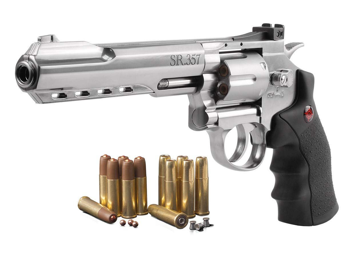 Crosman SR 357S Revolver Silver pistol