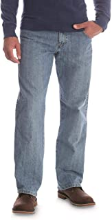 Wrangler Rugged Wear Relaxed Fit Mid Rise Jeans, Pale Blue, W38 L30