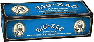 Zig Zag Cigarette Tubes Light King Size - 200ct Box