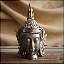 PPCP Thai Resin Buddha Statue Meditation Peace and Harmony Statue Religious Decoration Southeast Asian Style Crafts 13×10×...