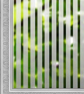 KTJ 窓用フィルム 2D窓飾りフィルム すりガラス調 目隠しシート 窓ガラス 断熱フィルム 断熱材 SVK-S018-TT250 ガラス飛散防止 UVカット ボーダー 奥行250×幅90cm