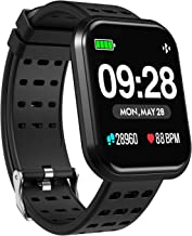DoSmarter Surpro Fitness Watch, Wearable Activity Tracker Running Watch with Heart Rate Monitor, Waterproof Smart Wristband Pedometer Watch for Kids Woman Man Best Fitness Present