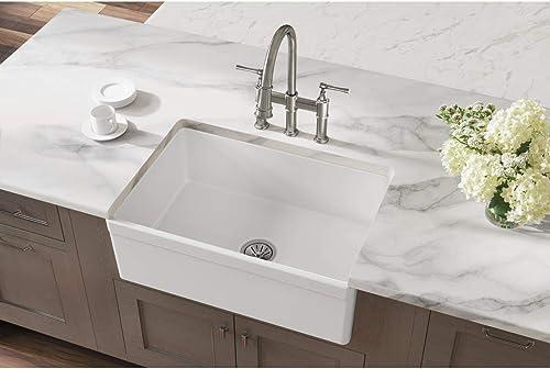 wholesale Elkay online sale Fireclay SWUF28179WH Single Bowl online sale Farmhouse Sink , White , 30 Inch outlet sale