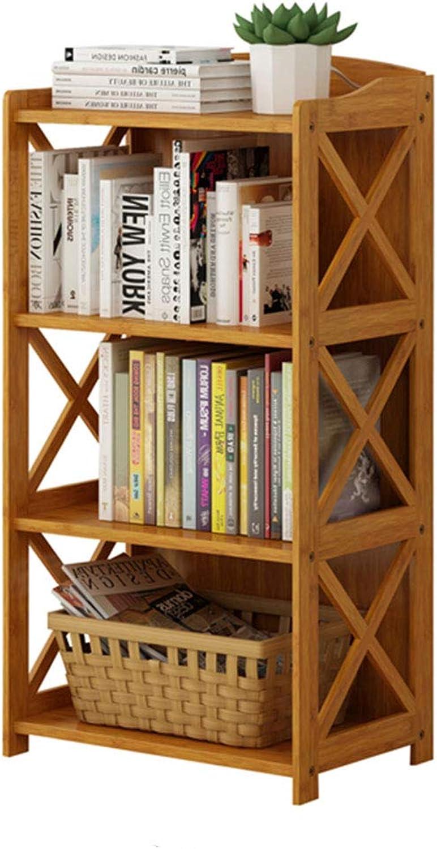 LQQGXLoffice Furniture Simple Bookshelf, Shelf Solid Wood Floor Bamboo Storage Shelf Table Bookcase (Size   50 x 29 x 97cm)