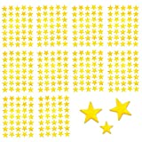 Oblique-Unique® 350 x Sterne Sticker Aufkleber in Gold oder Silber - wählbar (Gold)