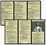 """Mass Prayer and Responses Pocket Card Laminated, trifold New Revised Mass Responses 3"""" W x 3"""" D x 7"""" H"""