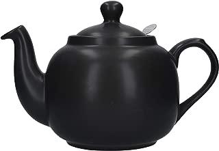 London Pottery Farmhouse Loose Leaf Teapot with Infuser, Ceramic, Matte Black, 6 Cup (1.6 Litre)