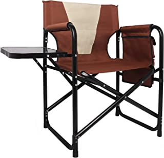 Camping Directors Chair Folding Lightweight Aluminum Frame Breathable Oxford Fabric Outdoor Lawn Camp Fishing Portable Cha...