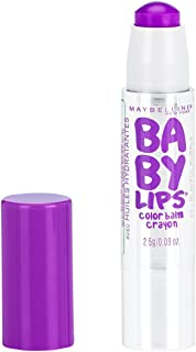 Maybelline New York Baby Lips Color Balm Crayon, Playful Purple, 0.09 oz.