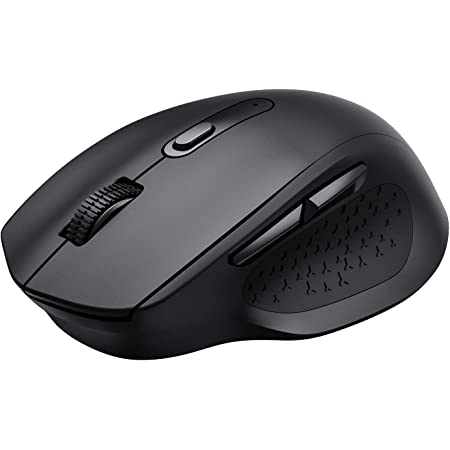 Computer Mouse Wireless, VICTEC Wireless Mouse, Ergonomic Silent Mouse with 5 Adjustable DPI & USB Receiver, Comfortable Mouse for Laptop, Chromebook, Notebook, PC, Tablet, Desktop