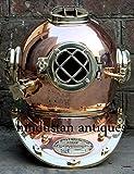 NauticalMart U.S Navy Mark V Diving Divers Helmet Heavy Copper & Brass Full Size 18'