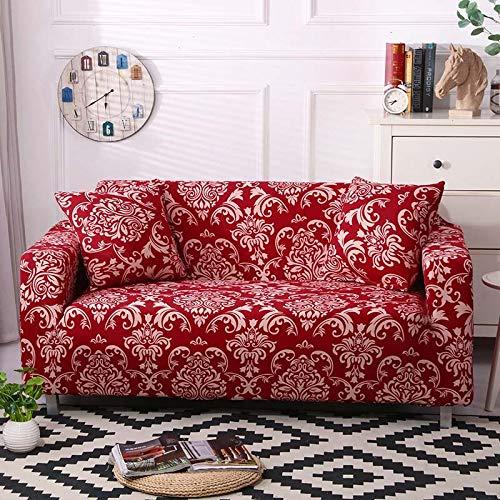 WXQY La Funda de sofá elástica Envuelve la Funda de sofá Antideslizante con Todo Incluido, Utilizada para el sofá Modular de la Sala de Estar, Funda de sofá de Toalla A6 de 2 plazas