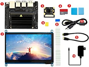 [Package C] NVIDIA Jetson Nano Developer Kit AI Development Powerful Computer + 7 inch IPS Capacitive Touch HDMI Screen LCD Display and SanDisk Micro SD Card 64GB and IMX219-77 Camera @XYGStudy