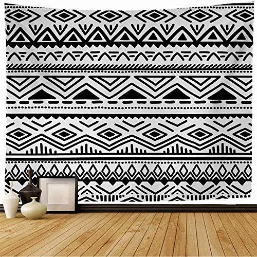 NA Tapiz de Pared Patrón Negro Nacional Blanco Raya Abstracta Perú Tribal Línea de triángulo Africano México Indio Azteca Tapiz Tapiz de Playa para decoración del hogar