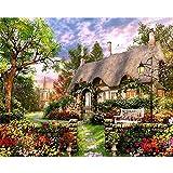 LoveTheFamily 数字油絵 数字キット塗り絵 手塗り DIY絵 デジタル油絵 40 x 50 cm ホーム オフィス装飾 - ガーデン小屋