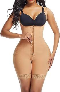 Lover-Beauty Women's Tummy Control Shapewear Butt Lifter Body Shaper High Compression Faja Bodysuit Waist Trainer
