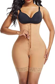 Lover-Beauty Women's Tummy Control Shapewear Butt Lifter Body Shaper High Compression Faja Bodysuit Waist Trainer