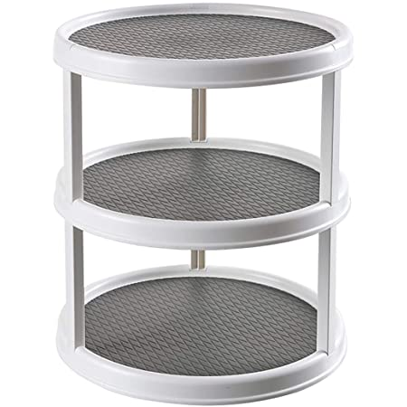 All Steel Construction Spice Rack Turntable Multi Tier Blue Lazy Susan 16 Diameter Professional Commercial Quality