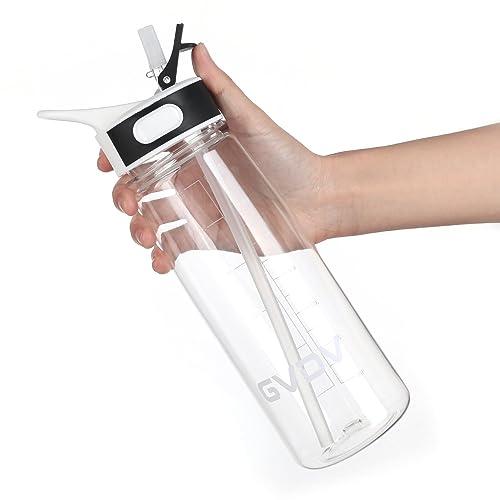 Botella Deporte - GVDV 800ml Botella de agua sin BPA, Tritan Reutilizable Plástico Ecológico con