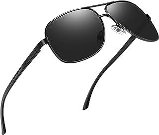 نظارات شمسية مستطيلة الشكل للرجال من جوبين، نظارات شمسية باطار معدني من الالمونيوم والماغنسيوم لقيادة الطائرات العسكرية، ح...