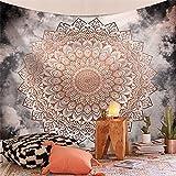 Tapiz de la serie India Mandala estética montaje en pared Tarot bruja tapiz manta bohemia tela colgante A16 150x200cm